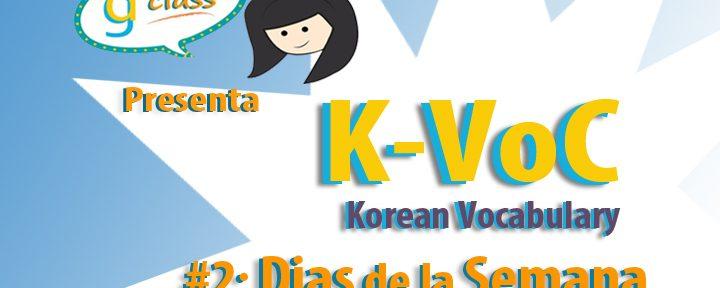 K-VOC #2: Dias de la Semana