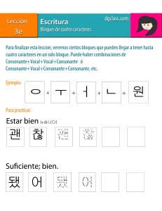 bloques de 4 caracteres