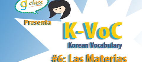 K-Voc #6 Las Materias
